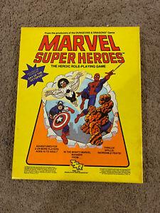 Vtg 1984 Marvel Superheroes Heroic RPG Basic Set TSR MH-O 6850 Octopus