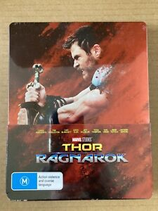 Thor Ragnarok JB Hi-Fi Exclusive Blu-ray Steelbook Marvel MCU Sealed mint