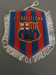 Ancien Fanion Football Vintage Cfb Fc Barcelone Barcelona