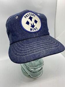 Vintage Pattiki Mine Denim Snapback Patch Hat Coal Mining Company Logo Cap