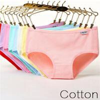 Women Cotton Briefs Panties Mid Waist Soft Comfort Lingerie Underwear Underpants