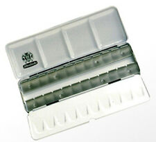 Schmincke Aquarelle tin-boite métal vide détient 24 de la moitié des casseroles ou 12 Ensemble Casseroles
