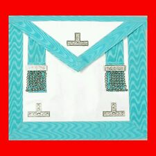 MASTER LK N€W LAMBSKIN MASONIC MASON APRON REGALIA LEATHER TRAVELLER APRON,CHAIN