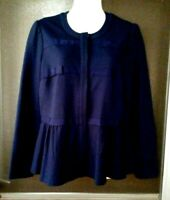 WOMEN'S VINEYARD VINES NAVY BLUE LONG SLEEVE SNAP FRONT LINED JACKET SIZE 4