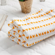 "Fox Organic Cotton Knit Double Fabric by the Yard 60"" Wide MR Mini Fox"