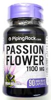1100mg Passion Flower 90 Capsules 4:1 Leaf Extract Herbal Supplement Pill