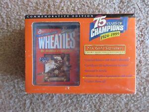 JACKIE ROBINSON Mini Wheaties 1999 - 75 Years Champions 24K NEW IN PACKAGING