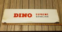 Vtg🦕🦖 DINO sinclair SUPREME GASOLINE 27x7 porcelain sign gas pump front oil
