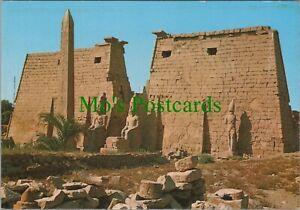 Egypt Postcard - Luxor Temple - Great Pylon and Obelisk of Ramses II - RRR1114