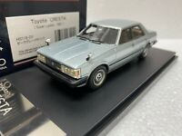 1/43 HI STORY HS119GY TOYOTA CRESTA SUPER LUCENT SILVER model car