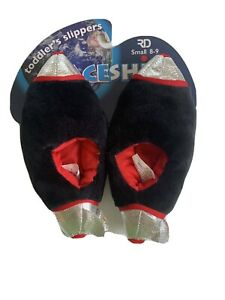 Spaceship Toddler's Slippers Size Small 8-9 New In Box