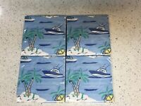 4 Packages of  Vineyard Vines For Target Boat/Water Disposable Beverage Napkins