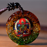 Tibet  Buddha Pendant  Green Tara  Necklace Amulet  Blessed Glass Buy 2 Get 1