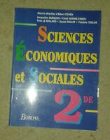 Sciences Economiques et Sociales. 2de. Bordas. 1993.
