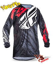 SALE Fly 2017 Kinetic Relapse Youth Jersey (Black/Red/White) S, M, L, XL