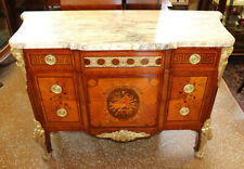 French Marble Top Bronze Mounted Inlaid Commode Chest By Henri Picard 1840-1890