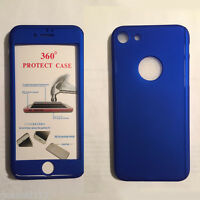 360° Full Hybrid Tempered Glass+Acrylic Case Cover For iPhone 5 5S 6 6S 7 Plus