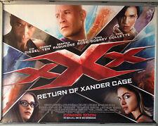 Cinema Poster: XXX RETURN OF XANDER CAGE 2016 (Main Quad) Vin Diesel Donnie Yen