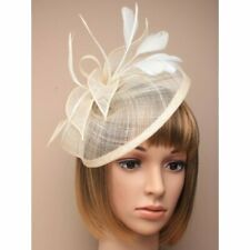 Cream Headband Aliceband Hat Fascinator Weddings Ladies Day Race Royal Ascot
