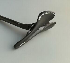 Carbon racing Seat saddle+post Seatpost Tube 27.2/30.8/31.6mm MTB Road Bike Gray