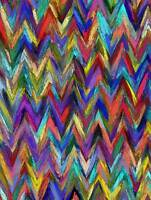 ABSTRACT ZIG ZAG MULTI COLOURED PHOTO ART PRINT POSTER PICTURE BMP1865B