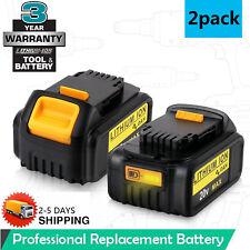 2PCS 20 Volt For DEWALT DCB200 DCB204 Max XR 4.0Ah Lithium-Ion Battery HOT