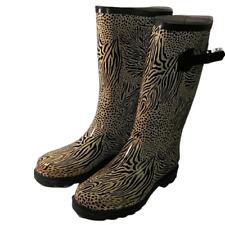 Rasolli Rain Boots Animal Print Women's Circa rubber garden boots