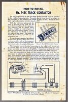 [53180] 1950 LIONEL TRAINS TRACK CONTACTOR No. 145C INSTRUCTIONS