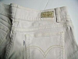 Levi's Jr.'s Women's white shorty shorts Sz1. 5 pockets Low rise