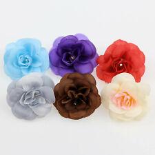 10/100Pcs Bulk Artificial Silk Rose Flower Heads Wedding DIY Bouquet Decor Craft