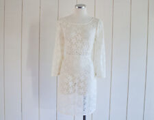 Cream Colored Starfish Eyelet Lace Pool Coverup Dress Laundry by Shelli Segal 8
