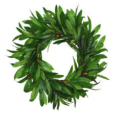 Olive Wreath Artificial Hanging Garland Green Plant Wedding Home Wall Decor