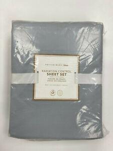 Pottery Barn Teen Radiation-Control Sheet Set Full Pale Cool Gray NEW