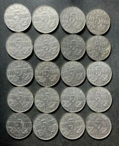 Old Canada Coin Lot - 1922-1936 - KING GEORGE V NICKELS - 20 Coins - Lot #J12