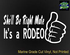 RODEO 4x4 dual cab ute canopy Car Funny Stickers 200mm