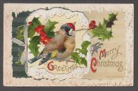 """[67938TXX] Ca. 1910 POSTCARD JOHN WINSCH """"GREETINGS A MERRY CHRISTMAS w/ INSERT"""