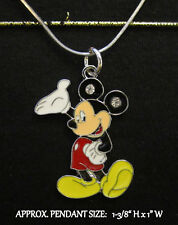 Large Mickey Charm Necklace
