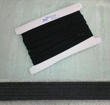 Elastic Black  Non Roll  20mm x 10 metres
