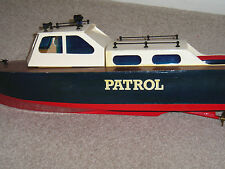 """FAST PATROL LAUNCH""""R/C MODEL BOAT. PLANS+TEMPLATES TO MAKE"""