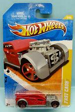 916 HOT WHEELS / CARTE LONGUE US / 2011 HW NEW MODELS / FAST CASH ROUGE 1/64