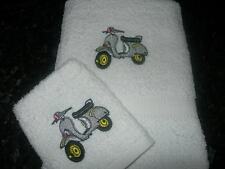 PERSONALISED SCOOTER, VESPA, HAND TOWEL & FACE CLOTH