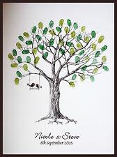 A3 Personalisiert Hochzeit- Fingerabdruck Baum Mit Tinten