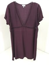 TOBI WOMEN'S YOUR HEART SHIFT DRESS PLUM MEDIUM NIB $56