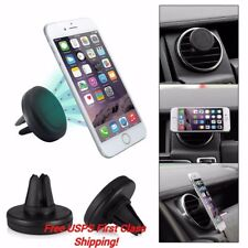 2Pk Car Mount Magnetic Mini Air Vent Stand Cell Phone Holder iPhone 7Plus 6S 6 5
