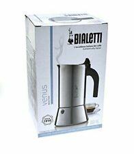 Bialetti Stove Top Coffee Espresso Maker Venus Stainless Steel 6 Cup Pot Italian