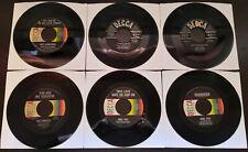 Lot of 6 Decca Label Records 45RPM (Used)