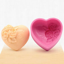3D Silicone Rose Flower I LOVE YOU Loving Heart Mould Fondant Soap Cake Mold hj6