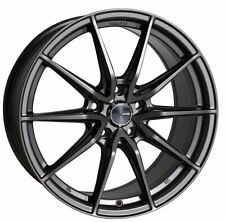 18x8 Enkei Rims DRACO 5x114.3 +35 Antrhracite Wheels (Set of 4)