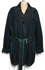 Venezia Denim Trench Coat 22/24 Plus Jean Jacket Belted Lane Bryant