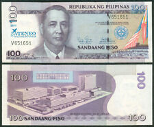 2011 NDS ATENEO 100 Peso FANCY REPEATING  SERIAL No V651651 Philippine Banknote